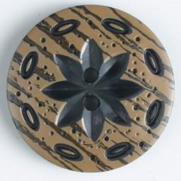 Modeknopf - SCHWARZ - Größe: 30mm