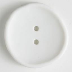 Modeknopf - WEISS - Größe: 38mm