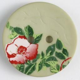 Modeknopf Blume - GRÜN - Größe: 28mm