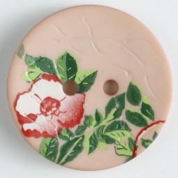Modeknopf Blume - PINK - Größe: 28mm