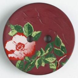 Modeknopf Blume - ROT - Größe: 28mm