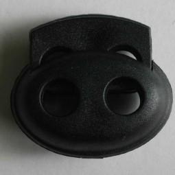 Kordelstopper - SCHWARZ - Größe: 23mm