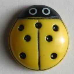 Kinderknopf Marienkäfer - GELB - Größe: 15mm