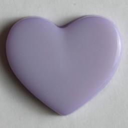 Kinderknopf Herz - LILA - Größe: 13mm