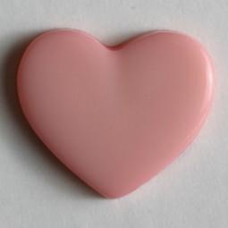 Kinderknopf Herz - PINK - Größe: 13mm