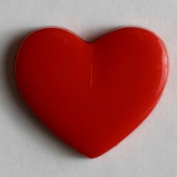 Kinderknopf Herz - ROT - Größe: 13mm