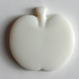 Kinderknopf Apfel - WEISS - Größe: 18mm