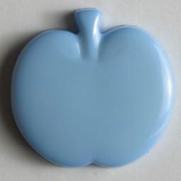 Kinderknopf Apfel - BLAU - Größe: 14mm