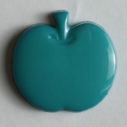 Kinderknopf Apfel - GRÜN - Größe: 14mm