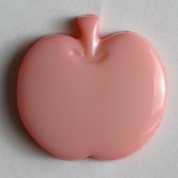 Kinderknopf Apfel - PINK - Größe: 14mm