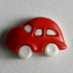 Kinderknopf Auto - ROT - Größe: 20mm