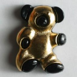 Kinderknopf Bär - GOLD - Größe: 18mm