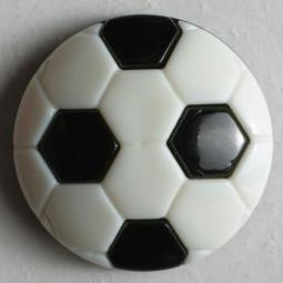 Kinderknopf Fussball - SCHWARZ - Größe: 20mm