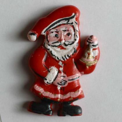 Kinderknopf Weihnachtsmann - ROT - Größe: 25mm