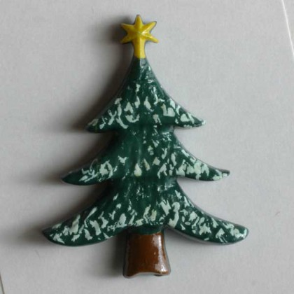 Kinderknopf Tannenbaum - GRÜN - Größe: 25mm