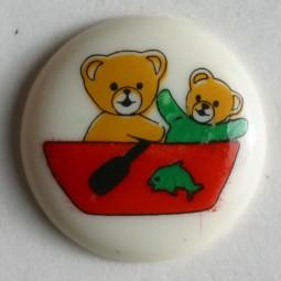Kinderknopf Bär - BEIGE - Größe: 15mm