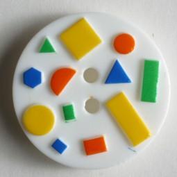 Kinderknopf - WEISS - Größe: 18mm