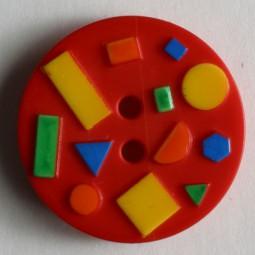Kinderknopf - ROT - Größe: 18mm