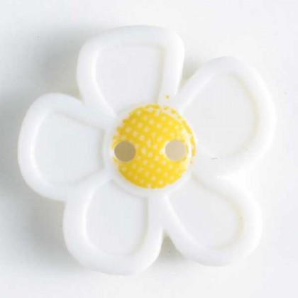 Kinderknopf Blume - TRANSPARENT - Größe: 28mm