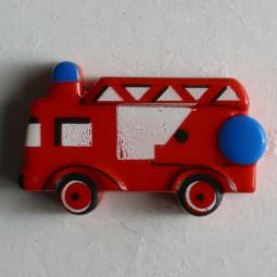 Kinderknopf Feuerwehr - ROT - Größe: 23mm