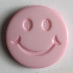Kinderknopf Smiley - PINK - Größe: 15mm