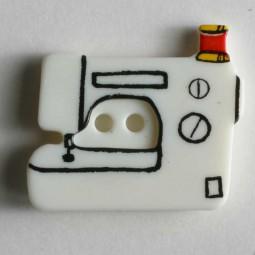Kinderknopf Nähmaschine - WEISS - Größe: 25mm