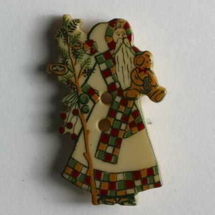 Kinderknopf Nikolaus - BEIGE - Größe: 25mm