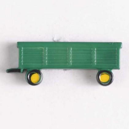 Kinderknopf Anhänger - GRÜN - Größe: 29mm
