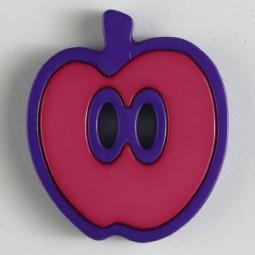 Kinderknopf Apfel - PINK/ LILA - Größe: 25mm
