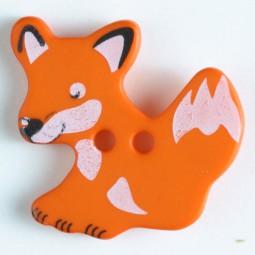 Kinderknopf Fuchs - ORANGE - Größe: 25mm