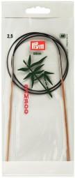 RUNDSTRICKNADEL Bambus Maß: 2,5mm/80cm