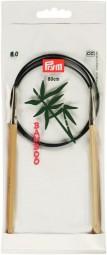 RUNDSTRICKNADEL Bambus Maß: 6mm/80cm
