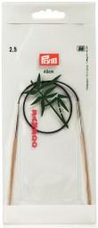 RUNDSTRICKNADEL Bambus Maß: 2,5mm/40cm