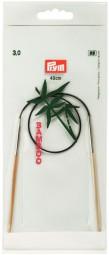 RUNDSTRICKNADEL Bambus Maß: 3mm/40cm