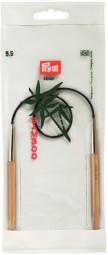 RUNDSTRICKNADEL Bambus Maß: 5,5mm/40cm