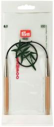 RUNDSTRICKNADEL Bambus Maß: 6mm/40cm