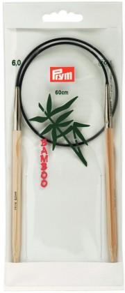 RUNDSTRICKNADEL Bambus Maß: 6mm/60cm