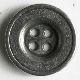 Vollmetallknopf - ALTSILBER - Größe: 18mm