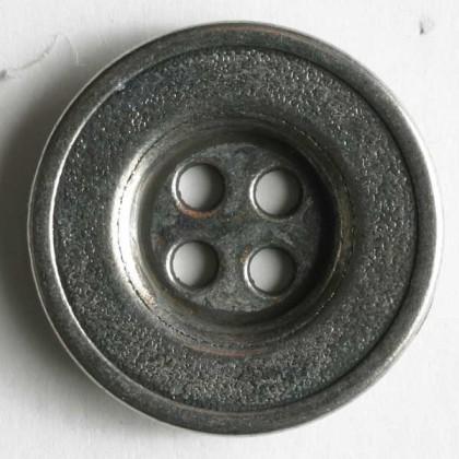 Vollmetallknopf - ALTSILBER - Größe: 15mm
