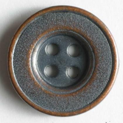 Vollmetallknopf - KUPFER - Größe: 18mm