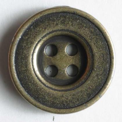 Vollmetallknopf - ALTMESSING - Größe: 18mm