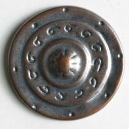 Vollmetallknopf - KUPFER - Größe: 25mm