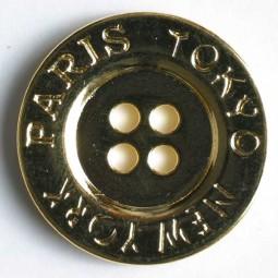Vollmetallknopf - GOLD - Größe: 23mm