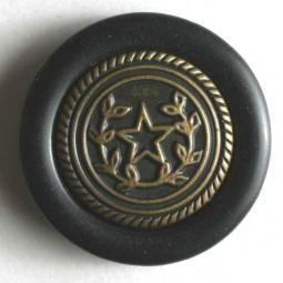 Zweiteiliger Knopf Metall/Kunststoff - SCHWARZ - Größe: 20mm