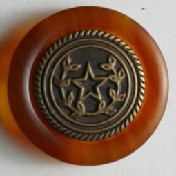 Zweiteiliger Knopf Metall/Kunststoff - BRAUN - Größe: 15mm