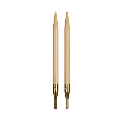 addiClick BAMBOO Spitzen Austauschbare Rundstricknadeln Maß: 3,75mm/12,5cm