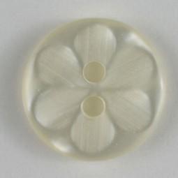 Modeknopf - WEISS - Größe: 11mm
