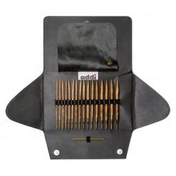 addiClick OLIVENHOLZ Austauschbare Rundstricknadeln Maß: 3,5-8mm/60-100cm Set