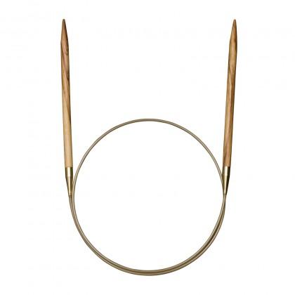 OLIVENHOLZ-RUNDSTRICKNADEL Maß: 4,5mm/120cm