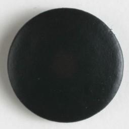Echt-Lederknopf - SCHWARZ - Größe: 23mm
